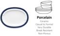 Noritake Platinum Wave Indigo Porcelain Oval Platter