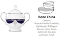 Marchesa by Lenox Empire Pearl Collection 2-Pc. Lidded Sugar Dish