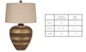 Kathy Ireland CLOSEOUT! Pacific Coast Woodford Table Lamp