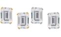 Macy's Cubic Zirconia Emerald-Cut Stud Earrings in 14k Gold