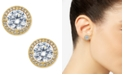 Eliot Danori Gold-Tone Cubic Zirconia Framed Stud Earrings, Created for Macy's
