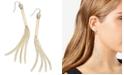 "Thalia Sodi Extra Large 4.5"" Gold-Tone Linear Fringe Earrings, Created for Macy's"