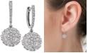 Macy's Diamond Daisy Earrings (1-1/4 ct. t.w.) in 14k White Gold