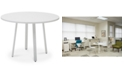 "Furniture Weldyn 42"" Round Conference Table, Quick Ship"