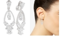 Anne Klein Multi-Crystal and Pavé Orbital Drop E-Z Comfort Clip-On Earrings