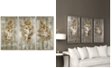 Uttermost Champagne Leaves 3-Pc. Modern Wall Art
