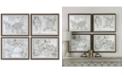 Uttermost World Maps 4-Pc. Framed Print Wall Art