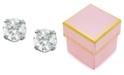 Macy's Children's 14k Gold Earrings, Cubic Zirconia Accents