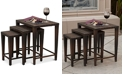 Noble House Aldin Set of 3 Outdoor Wicker Nested Tables
