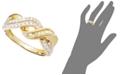Macy's 14k Gold Ring, Diamond Swirl Twist (1/2 ct. t.w.)