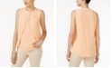 Thalia Sodi Draped High-Low Shell, Created for Macy's