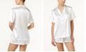 Linea Donatella Bride Embroidered Boyfriend Short Pajama Set
