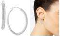 Macy's Diamond Hoop Earrings (1 ct. t.w.) in Sterling Silver