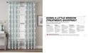 CHF Lotus Harmony Textured Geo-Print Rod Pocket Window Panel Collection