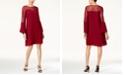 Thalia Sodi Lace Illusion Shift Dress, Created for Macy's