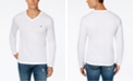 Lacoste Men's V-Neck Long Sleeve Jersey T-Shirt