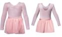 Flo Dancewear Ruched Leotard & Georgette Skirt, Little Girls & Big Girls