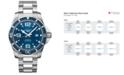 Longines Men's Swiss Automatic HydroConquest Stainless Steel Bracelet Watch 44mm