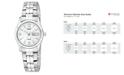 Citizen Women's Stainless Steel Bracelet Watch 25mm EQ0540-57A