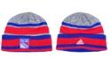 adidas New York Rangers Heathered Grey Beanie