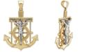 Macy's Men's Mariner Cross Pendant in 14k Gold & White Gold