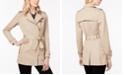 Michael Kors Belted Front-Zip Trench Coat in Regular & Petite Sizes