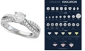 Macy's Diamond Twist Engagement Ring (1-1/7 ct. t.w.) in 14k White Gold