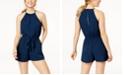 Be Bop Juniors' Sleeveless Tie-Front Romper