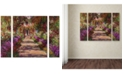"Trademark Global Claude Monet 'A Pathway in Monet's Garden' Large Multi-Panel Wall Art Set, 30"" x 41"""