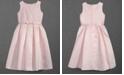 Us Angels Embroidered Organza Satin Dress, Little Girls