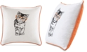 """HipStyle Artemis 20"""" Square Cat Embroidered Decorative Pillow"""