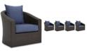Furniture Malibu Outdoor Club Chair (Set of 4), Quick Ship