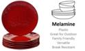 Certified International 6-Pc. Red Melamine Salad Plate Set