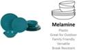 Certified International Teal Melamine 12-Pc. Dinnerware Set, Service for 4