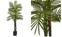 Nearly Natural 5.5' Indoor/Outdoor UV-Resistant Artificial Double Robellini Palm Tree