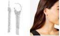 Steve Madden Crystal Fringe Drop Earrings