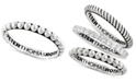 Peter Thomas Roth Peter Thomas Beaded Stacking Band in Sterling Silver