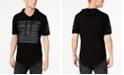 INC International Concepts I.N.C. Men's Slashed Short-Sleeve Hoodie, Created for Macy's