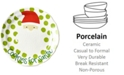 Coton Colors by Laura Johnson North Pole Curved Cookies for Santa Face Salad Plate