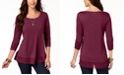 Style & Co Petite Chiffon-Hem Top, Created for Macy's