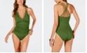 La Blanca Island Goddess Underwire Tummy Control Cross-Back One-Piece Swimsuit