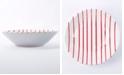 VIETRI Net & Stripe Red Stripe Pasta Bowl
