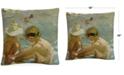 "Baldwin Joaquin Sorolla The Wounded Foot 16"" x 16"" Decorative Throw Pillow"