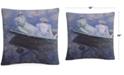 "Baldwin Monet On The Boat 16"" x 16"" Decorative Throw Pillow"