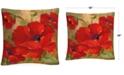 """Baldwin Rio Poppies 16"""" x 16"""" Decorative Throw Pillow"""