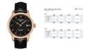 Tissot Men's Swiss Automatic Le Locle Black Leather Strap Watch 39.3mm T41542353
