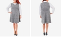 NY Collection Plaid Plus Size Fit & Flare Blouse Dress