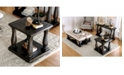 Furniture of America Pippin Weathered Walnut End Table