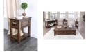 Furniture of America Nyah Walnut Side Table