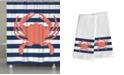Laural Home Crab Stripe Bath Collection